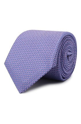 Мужской шелковый галстук CANALI сиреневого цвета, арт. 18/HJ03120 | Фото 1