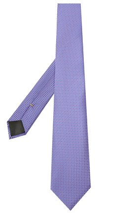 Мужской шелковый галстук CANALI сиреневого цвета, арт. 18/HJ03120 | Фото 2