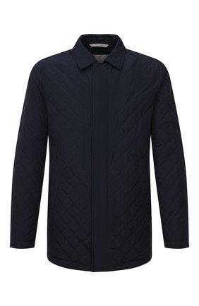 Мужская утепленная куртка CANALI темно-синего цвета, арт. 020299/SG01121   Фото 1