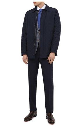 Мужская утепленная куртка CANALI темно-синего цвета, арт. 020299/SG01121   Фото 2