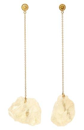 Женские серьги ice floe DZHANELLI желтого цвета, арт. 1095 | Фото 1