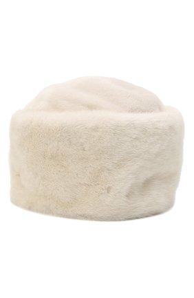 Женская шапка из меха норки KUSSENKOVV кремвого цвета, арт. 61211212455 | Фото 1