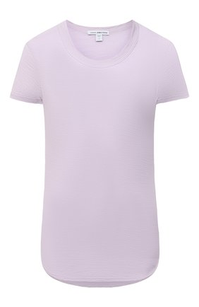 Женская хлопковая футболка JAMES PERSE розового цвета, арт. WUA3037 | Фото 1