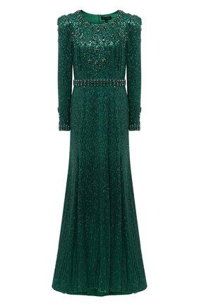 Женское платье с пайетками JENNY PACKHAM зеленого цвета, арт. HHD136L   Фото 1
