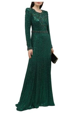 Женское платье с пайетками JENNY PACKHAM зеленого цвета, арт. HHD136L   Фото 2