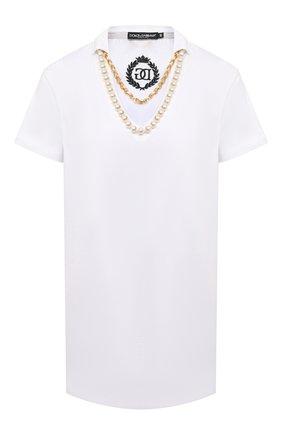 Женская хлопковая футболка DOLCE & GABBANA белого цвета, арт. F8M43Z/G7XGE | Фото 1