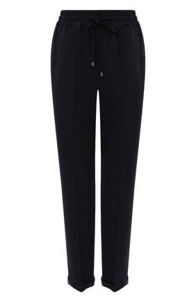 Женские шерстяные брюки KITON темно-синего цвета, арт. D37102K05I22   Фото 1