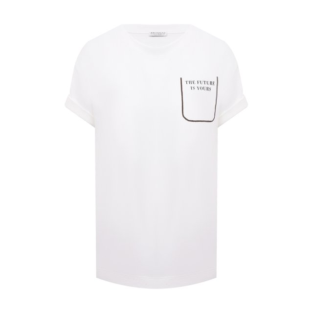 Хлопковая футболка Brunello Cucinelli