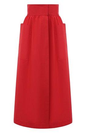 Женская хлопковая юбка THREE GRACES красного цвета, арт. TGL SK8030 | Фото 1