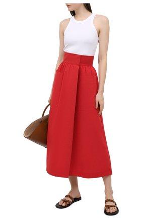 Женская хлопковая юбка THREE GRACES красного цвета, арт. TGL SK8030 | Фото 2