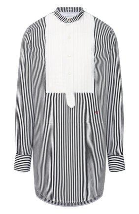 Женская хлопковая рубашка VICTORIA BECKHAM черного цвета, арт. 1121WSH002241A | Фото 1