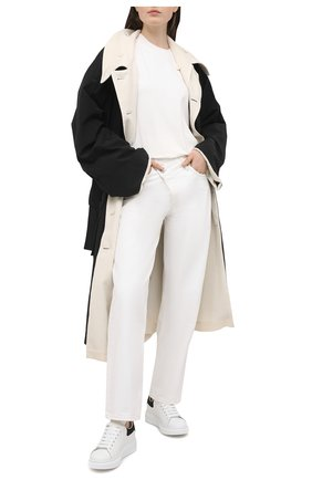 Женские кожаные кеды xl sole ALEXANDER MCQUEEN черного цвета, арт. 650788/WHZ4K | Фото 2