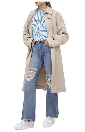 Женские кожаные кеды xl sole ALEXANDER MCQUEEN розового цвета, арт. 650788/WHZ4K | Фото 2 (Подошва: Платформа; Материал внутренний: Натуральная кожа)