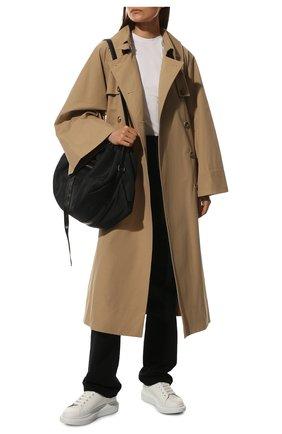 Женские кожаные кеды xl sole ALEXANDER MCQUEEN белого цвета, арт. 561726/WHVI5 | Фото 2 (Материал внутренний: Натуральная кожа; Подошва: Платформа)