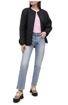 Женская хлопковая футболка VERSACE JEANS COUTURE розового цвета, арт. B2HWA7TB-WDP608 L0G0 F0IL/30319 | Фото 2