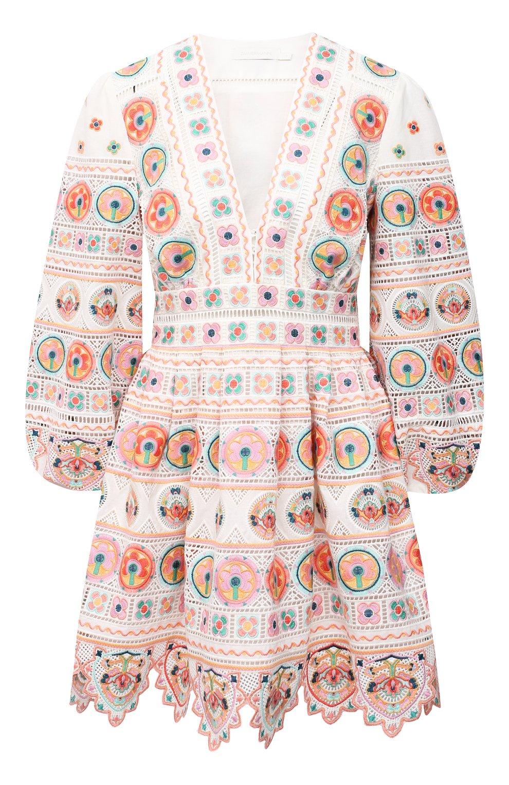 Женское хлопковое платье ZIMMERMANN разноцветного цвета, арт. 9351DBRG | Фото 1