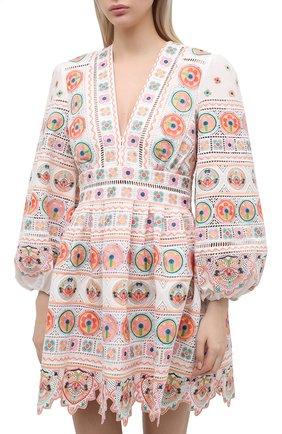 Женское хлопковое платье ZIMMERMANN разноцветного цвета, арт. 9351DBRG | Фото 3
