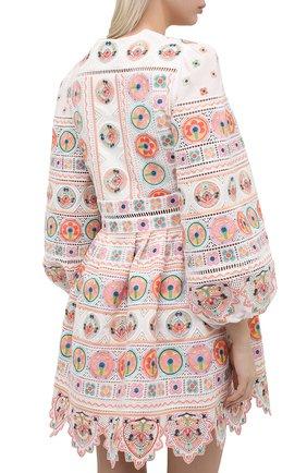 Женское хлопковое платье ZIMMERMANN разноцветного цвета, арт. 9351DBRG | Фото 4