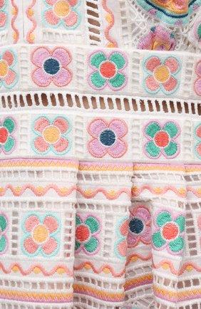 Женское хлопковое платье ZIMMERMANN разноцветного цвета, арт. 9351DBRG | Фото 5