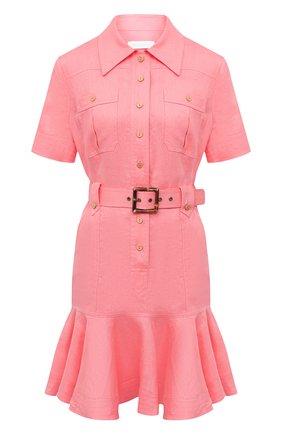 Женское льняное платье ZIMMERMANN розового цвета, арт. 9369DP0P/WML | Фото 1
