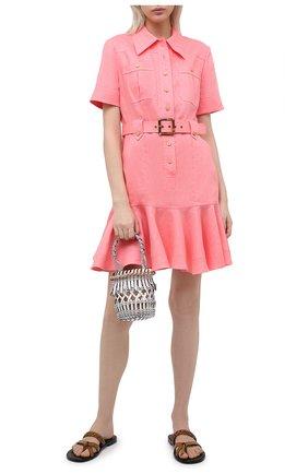 Женское льняное платье ZIMMERMANN розового цвета, арт. 9369DP0P/WML | Фото 2