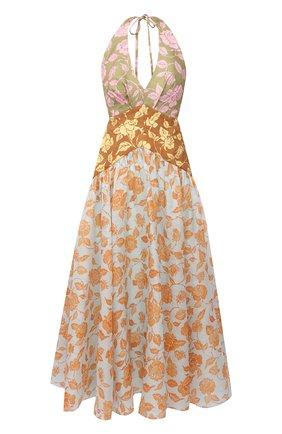 Женское льняное платье ZIMMERMANN разноцветного цвета, арт. 9531DAND | Фото 1
