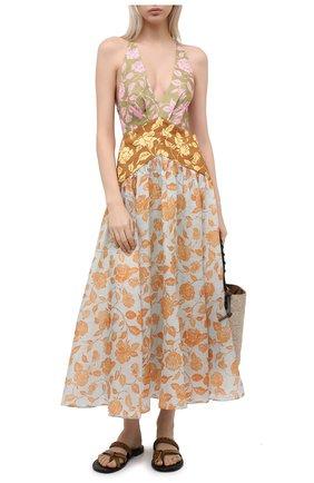 Женское льняное платье ZIMMERMANN разноцветного цвета, арт. 9531DAND | Фото 2