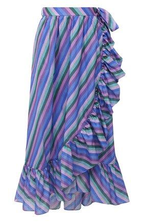 Женская хлопковая юбка ZIMMERMANN сиреневого цвета, арт. 9608SP0P | Фото 1