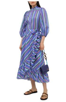 Женская хлопковая юбка ZIMMERMANN сиреневого цвета, арт. 9608SP0P | Фото 2
