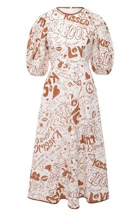 Женское льняное платье ZIMMERMANN белого цвета, арт. 9716DRAND | Фото 1