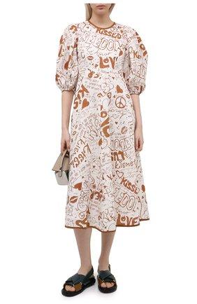 Женское льняное платье ZIMMERMANN белого цвета, арт. 9716DRAND | Фото 2
