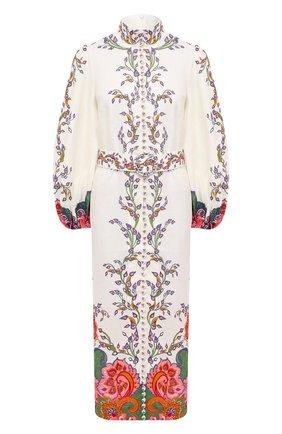Женское льняное платье ZIMMERMANN белого цвета, арт. 9719DAND | Фото 1
