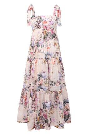 Женское хлопковое платье ZIMMERMANN разноцветного цвета, арт. 9746DBRG | Фото 1
