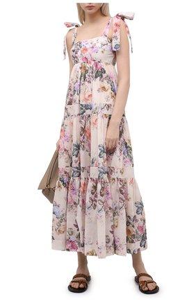 Женское хлопковое платье ZIMMERMANN разноцветного цвета, арт. 9746DBRG | Фото 2