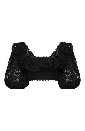 Женский хлопковый топ ZIMMERMANN черного цвета, арт. 9840TBRG | Фото 1