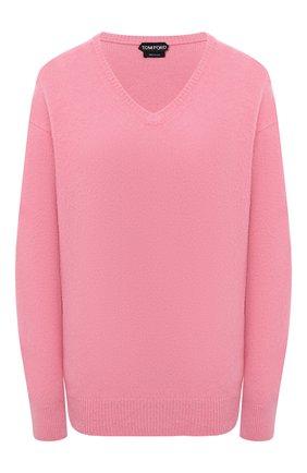 Женский кашемировый пуловер TOM FORD розового цвета, арт. MAK1049-YAX293 | Фото 1