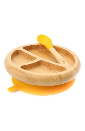 Детского тарелка с ложкой AVANCHY желтого цвета, арт. YBPL | Фото 1