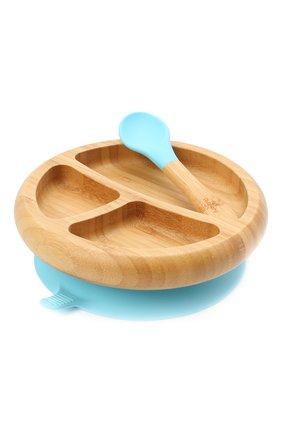 Тарелка с ложкой AVANCHY голубого цвета, арт. BBPL   Фото 1