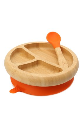 Детского тарелка с ложкой AVANCHY оранжевого цвета, арт. OBPL | Фото 1 (Кросс-КТ: Посуда; Материал: Растительное волокно)