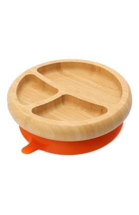 Детского тарелка с ложкой AVANCHY оранжевого цвета, арт. OBPL | Фото 2 (Кросс-КТ: Посуда; Материал: Растительное волокно)