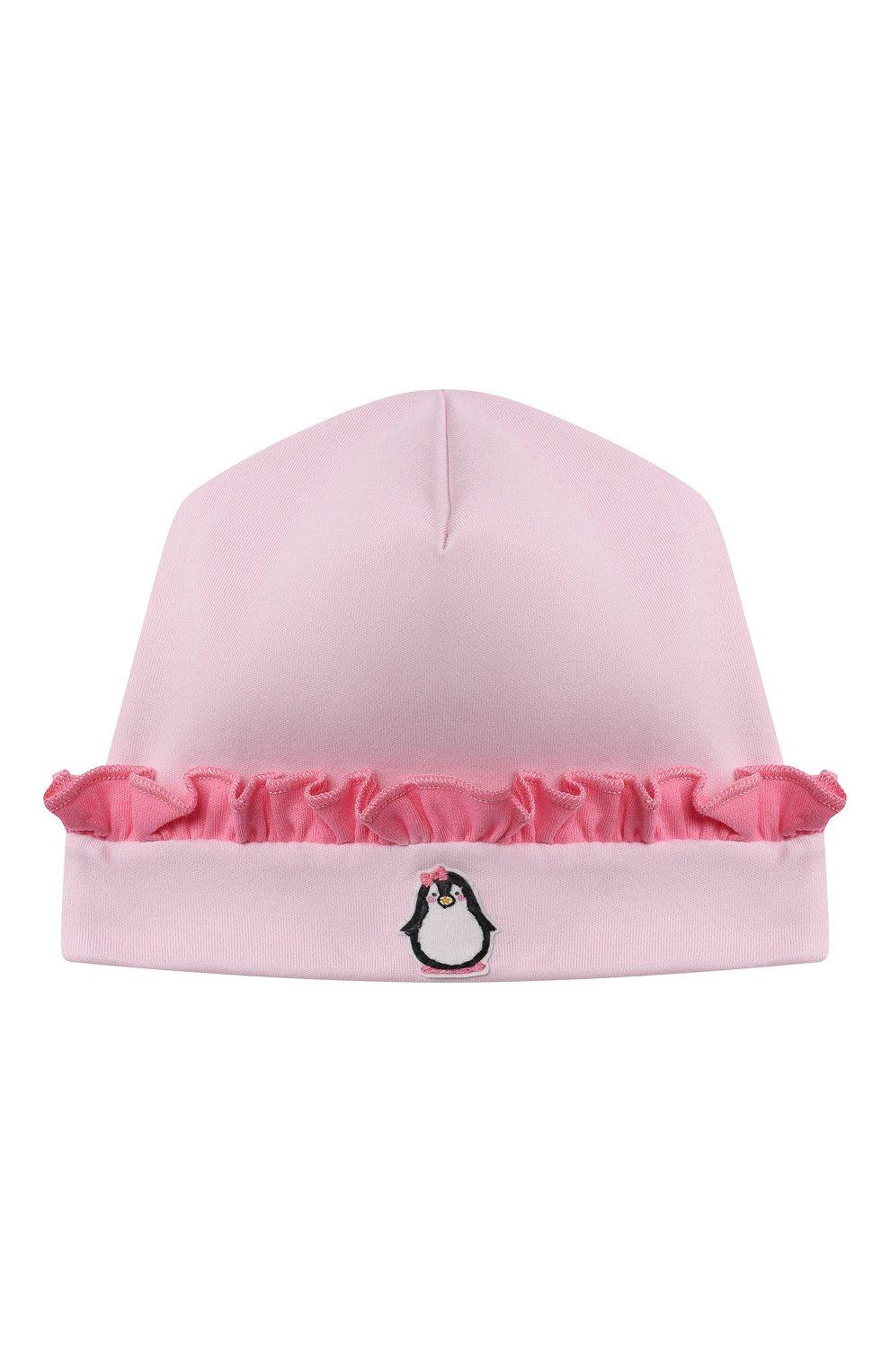 Детского хлопковая шапка MAGNOLIA BABY розового цвета, арт. 788-60-PK | Фото 1 (Материал: Текстиль, Хлопок)