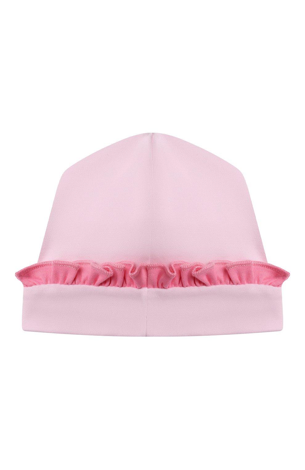 Детского хлопковая шапка MAGNOLIA BABY розового цвета, арт. 788-60-PK | Фото 2 (Материал: Текстиль, Хлопок)