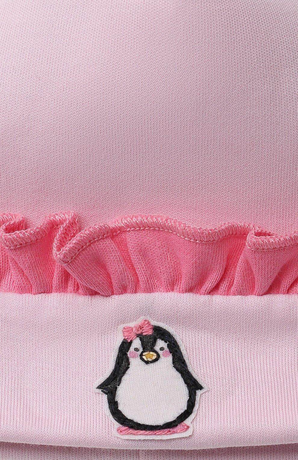 Детского хлопковая шапка MAGNOLIA BABY розового цвета, арт. 788-60-PK | Фото 3 (Материал: Текстиль, Хлопок)