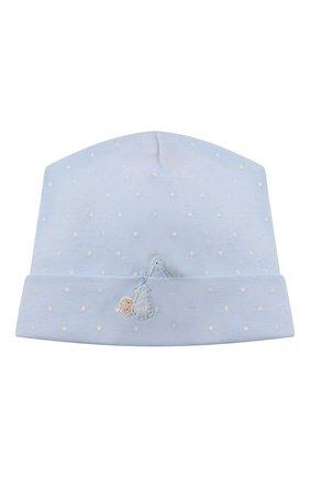 Детского хлопковая шапка MAGNOLIA BABY голубого цвета, арт. E103-50-LB | Фото 1