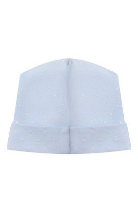 Детского хлопковая шапка MAGNOLIA BABY голубого цвета, арт. E103-50-LB | Фото 2