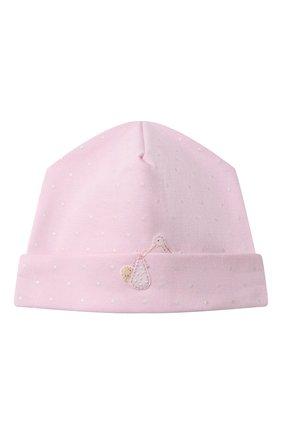 Детского хлопковая шапка MAGNOLIA BABY розового цвета, арт. E103-50-PK | Фото 1