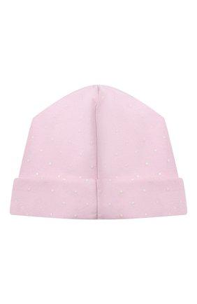 Детского хлопковая шапка MAGNOLIA BABY розового цвета, арт. E103-50-PK | Фото 2
