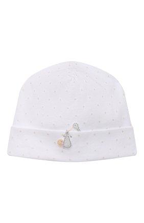 Детского хлопковая шапка MAGNOLIA BABY белого цвета, арт. E103-50-WH | Фото 1