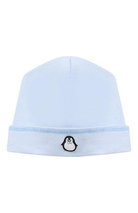 Детского хлопковая шапка MAGNOLIA BABY голубого цвета, арт. 788-50-LB | Фото 1