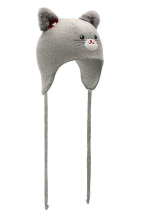 Детского шерстяная шапка CHOBI серого цвета, арт. WH-3000 | Фото 1
